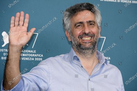 Salvatore Mereu poses at a photocall for 'Assandira' during the 77th annual Venice International Film Festival, in Venice, Italy, 06 September 2020. The movie is presented Out of Competition at the festival running from 02 September to 12 September.