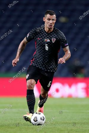 Croatia's Dejan Lovren during the UEFA Nations League soccer match between Portugal and Croatia at the Dragao stadium in Porto, Portugal