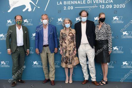 Francesco Melzi d'Eril, Leonardo Ferragamo, Giovanna Ferragamo, Luca Guadagnino and Dana Thomas