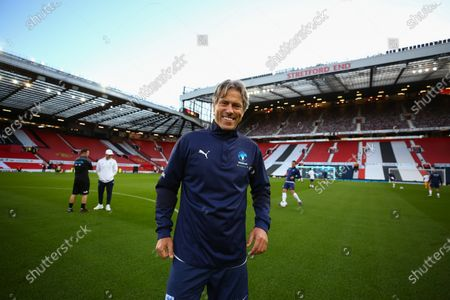 John Bishop on the pitch ahead of Soccer Aid for Unicef 2020 at Old Trafford, Manchester. For further information, please contact Head of Communications Niall Malone niall@socceraidproductions.com© Unicef/SAP/(WALTON)20Photographed by Ian Walton for Unicef UK and SAP LTD.06/09/2020