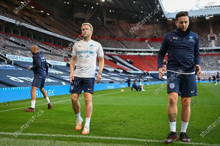 Olly Murs on the pitch ahead of ahead of Soccer Aid for Unicef 2020 at Old Trafford, Manchester
