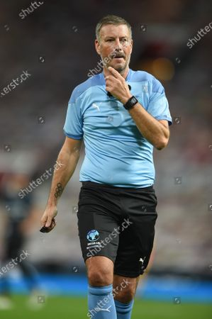 Referee Mark Clattenburg during Soccer Aid for Unicef 2020 at Old Trafford, Manchester