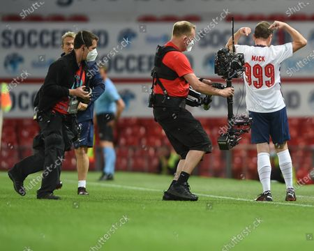 Lee Mack of England comes on during the first half of Soccer Aid for Unicef 2020 at Old Trafford, Manchester