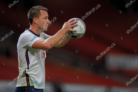 John Terry of England is pictured playing in Soccer Aid for Unicef 2020 at Old Trafford, Manchester. For further information, please contact Head of Communications Niall Malone niall@socceraidproductions.com© Unicef/SAP/(WALTON)20Photographed by Ian Walton for Unicef UK and SAP LTD.06/09/2020