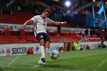 Joe Cole of England is pictured playing in Soccer Aid for Unicef 2020 at Old Trafford, Manchester.