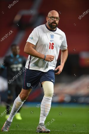 Tom Davis of England is pictured playing in Soccer Aid for Unicef 2020 at Old Trafford, ManchesterFor further information, please contact Head of Communications Niall Malone niall@socceraidproductions.com© Unicef/SAP/(HAMBURY)20Photographed by Daniel Hambury for Unicef UK and SAP LTD.06/09/2020