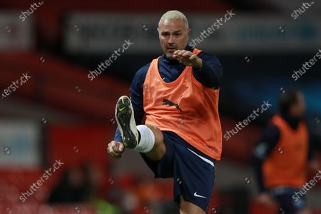 Paddy McGuinness of England warms up during Soccer Aid for Unicef 2020 at Old Trafford,