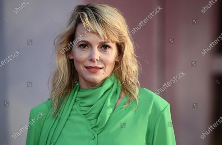Stock Photo of Barbora Bobulova arrives for the 'Filming Italy Best Movie Award' ceremony during the 77th annual Venice International Film Festival, in Venice, Italy, 06 September 2020. The event is the first major in-person film fest to be held in the wake of the Covid-19 coronavirus pandemic. Attendees have to follow strict safety measures like mandatory face masks indoors, temperature scanners, and socially distanced screenings to reduce the risk of infection. The public is barred from the red carpet, and big stars are expected to be largely absent this year. The 77th edition of the festival runs from 02 to 12 September 2020.
