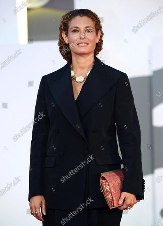 Ginevra Elkann arrives for the 'Filming Italy Best Movie Award' ceremony during the 77th annual Venice International Film Festival, in Venice, Italy, 06 September 2020. The event is the first major in-person film fest to be held in the wake of the Covid-19 coronavirus pandemic. Attendees have to follow strict safety measures like mandatory face masks indoors, temperature scanners, and socially distanced screenings to reduce the risk of infection. The public is barred from the red carpet, and big stars are expected to be largely absent this year. The 77th edition of the festival runs from 02 to 12 September 2020.