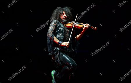 Lebanese-Spanish violinist Ara Malikian performs on stage during his concert held at WiZink Center, in Madrid, Spain, 06 September 2020.