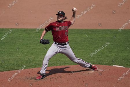Arizona Diamondbacks starting pitcher Alex Young (49) throws against the San Francisco Giants during the third inning of a baseball game in San Francisco