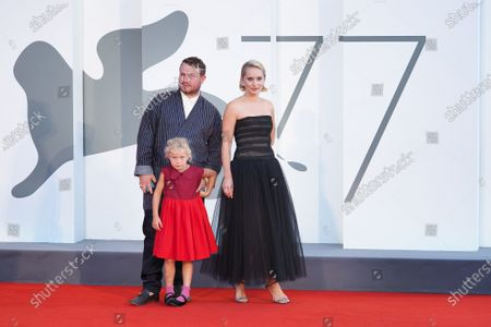 Stock Picture of Brady Corbet, Adelaide James Fastvold Corbet and Director Mona Fastvold
