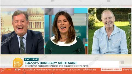 Piers Morgan, Susanna Reid and Paul Gascoigne