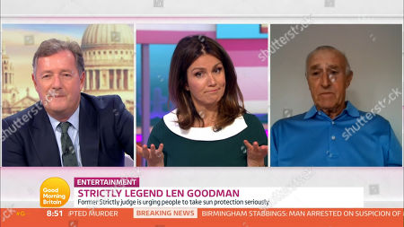 Piers Morgan, Susanna Reid and Len Goodman