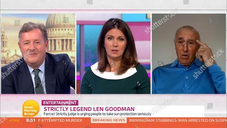 Stock Picture of Piers Morgan, Susanna Reid and Len Goodman