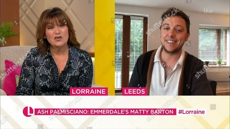 Stock Picture of Lorraine Kelly and Ash Palmisciano