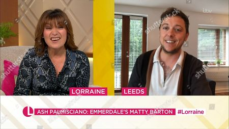 Lorraine Kelly and Ash Palmisciano