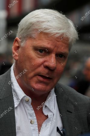 The Editor-in-chief of WikiLeaks, Kristinn Hrafnsson from Iceland, in London, . Lawyers for WikiLeaks founder Julian Assange and the U.S. government were squaring off in a London court on Monday at a high-stakes extradition case delayed by the coronavirus pandemic. American prosecutors have indicted the 49-year-old Australian on 18 espionage and computer misuse charges over Wikileaks' publication of secret U.S. military documents a decade ago. The charges carry a maximum sentence of 175 years in prison