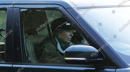 Princess Anne and her husband Tim Laurence on the A939 road about 10 miles from Balmoral Castle