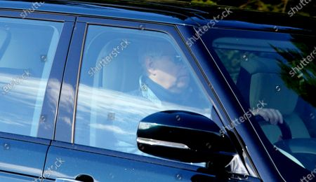 Prince Andrew driving on the A939 about 10 miles from Balmoral Castle.