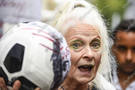 Dame Vivienne Westwood joins supporters of Wikileaks founder Julian Assange at a protest outside the Old Bailey as his extradition hearing, which is expected to last for the next three or four weeks, resumes after it was postponed due to the coronavirus pandemic lockdown. Julian Assange is wanted in the US for allegedly conspiring with army intelligence analyst Chelsea Manning to expose military secrets in 2010.