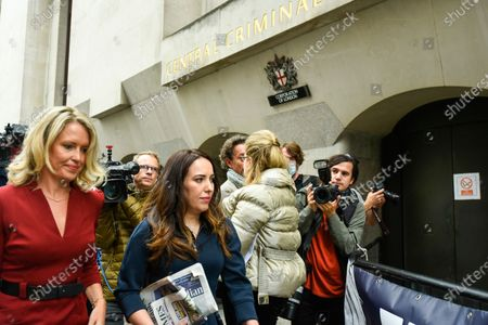 Julian Assange's lawyer, Jennifer Robinson (L) and fiancée, Stella Moris (C), arrive at the Old Bailey as Julian Assange's extradition hearing, which is expected to last for the next three or four weeks, resumes after it was postponed due to the coronavirus pandemic lockdown. Julian Assange is wanted in the US for allegedly conspiring with army intelligence analyst Chelsea Manning to expose military secrets in 2010.