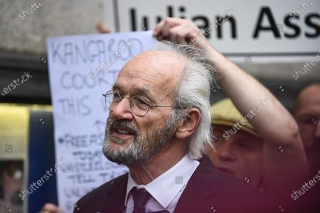 Editorial photo of Julian Assange extradition hearing protest, LONDON, UK - 07 Sep 2020