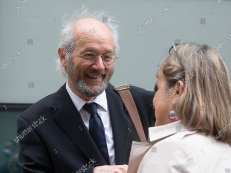 Stock Picture of Julian Assange's father, John Shipton outside the court.
