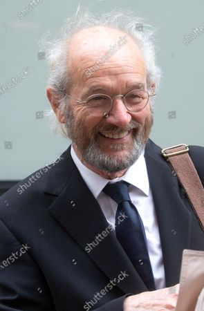 Julian Assange's father, John Shipton outside the court.