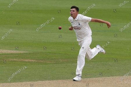 Surrey bowler, James Taylor during Surrey CCC vs Sussex CCC, Bob Willis Trophy Cricket at the Kia Oval on 7th September 2020