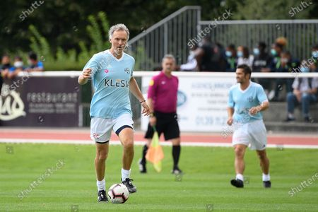 """Stock Image of Laurent Blanc during a charity match of the """"Variete club de France"""" on sunday september 6, 2020. Poissy. France. PHOTO : CHRISTOPHE SAIDI /  SIPA."""