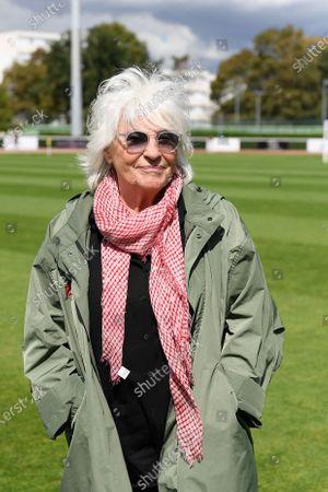 "Stock Photo of Catherine Lara before a charity match of the ""Variete club de France"" on sunday september 6, 2020. Poissy. France. PHOTO : CHRISTOPHE SAIDI /  SIPA."