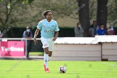 """Stock Photo of Christian Karembeu during a charity match of the """"Variete club de France"""" on sunday september 6, 2020. Poissy. France. PHOTO : CHRISTOPHE SAIDI /  SIPA."""