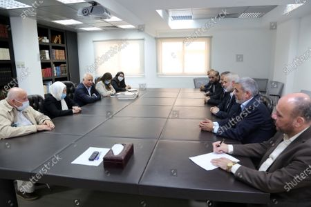 Editorial picture of Hamas' political bureau chief Ismail Haniya meets with Bahia Hariri sister of the martyr former Prime Minister Rafic Hariri and Deputy in the Lebanese Parliament, Beirut, Lebanon - 07 Sep 2020