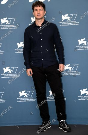 Ukrainian-born English actor Alec Utgoff poses at a photocall for 'Sniegu juz nigdy nie bedzie (Never gonna snow again)' during the 77th annual Venice International Film Festival, in Venice, Italy, 07 September 2020. The event is the first major in-person film fest to be held in the wake of the Covid-19 coronavirus pandemic. Attendees have to follow strict safety measures like mandatory face masks indoors, temperature scanners, and socially distanced screenings to reduce the risk of infection. The public is barred from the red carpet, and big stars are expected to be largely absent this year. The 77th edition of the festival runs from 02 to 12 September 2020.