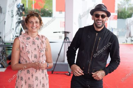 Stock Photo of Director Alice Rohrwacher and JR