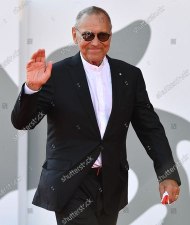 Andrei Konchalovsky arrives for the premiere of 'Dorogie Tovarischi! (Dear Comrades!)' during the 77th annual Venice International Film Festival, in Venice, Italy, 07 September 2020. The movie is presented in the official competition 'Venezia 77' at the festival running from 02 September to 12 September. The event is the first major in-person film fest to be held in the wake of the Covid-19 coronavirus pandemic. Attendees have to follow strict safety measures like mandatory face masks indoors, temperature scanners, and socially distanced screenings to reduce the risk of infection. The public is barred from the red carpet, and big stars are expected to be largely absent this year.