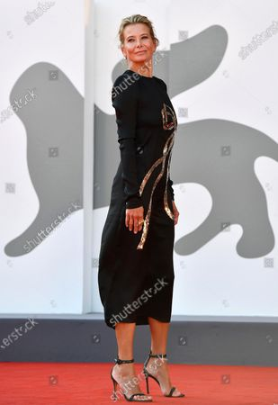Julia Vysotskaya arrives for the premiere of 'Dorogie Tovarischi! (Dear Comrades!)' during the 77th annual Venice International Film Festival, in Venice, Italy, 07 September 2020. The movie is presented in the official competition 'Venezia 77' at the festival running from 02 September to 12 September. The event is the first major in-person film fest to be held in the wake of the Covid-19 coronavirus pandemic. Attendees have to follow strict safety measures like mandatory face masks indoors, temperature scanners, and socially distanced screenings to reduce the risk of infection. The public is barred from the red carpet, and big stars are expected to be largely absent this year.