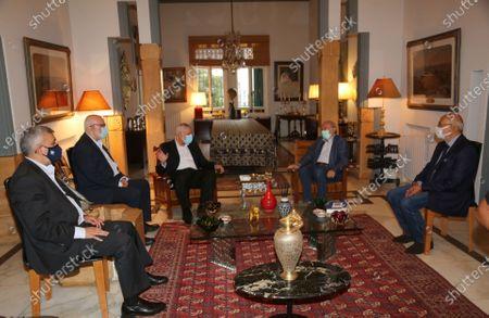 Editorial image of Hamas' political bureau chief Ismail Haniya meets with the head of the Lebanese Progressive Socialist, Beirut, Lebanon - 07 Sep 2020