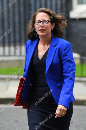 Baroness Evans, Leader of the House of Lords, arrives for a cabinet meeting at the FCO.