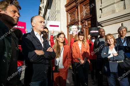 Editorial photo of Reporters rally in support of Algerian journalist Khaled Drareni, Paris, France - 07 Sep 2020