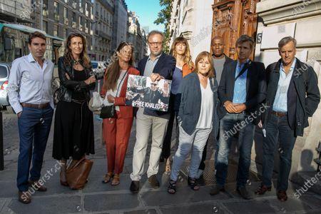 Stock Image of Mohamed Kaci, Anne-Claire Coudray, Francoise Joly, Christophe Deloire, Daphne Burki, Marie-Laure Augry, Harry Roselmack, Guy Lagache et Bernard de la Villardiere