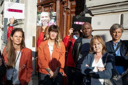 Francoise Joly, Christophe Deloire, Daphne Burki, Marie-Laure Augry, Harry Roselmack, Guy Lagache