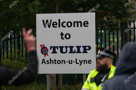 The entrance to the Tulip slaughterhouse in Greater manchester.