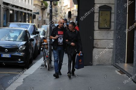 Editorial photo of Enrico Ruggeri out and about, Milan, Italy - 07 Sep 2020