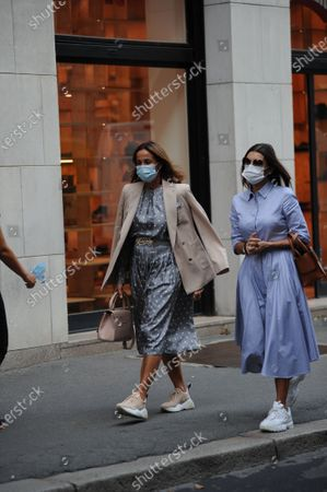 Editorial image of Cristina Parodi out and about, Milan, Italy - 07 Sep 2020