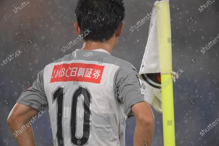 Ryota Oshima of Kawasaki Frontale during the J.League J1 soccer match between Yokohama F. Marinos 1-3 Kawasaki Frontale at Nissan Stadium in Yokohama. Kanagawa, Japan.