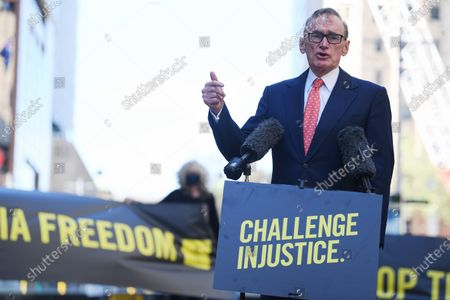 Stock Image of Former Australian Foreign Affairs Minister Bob Carr speaks during an Amnesty International media event, calling on the US Government to drop the charges and extradition of WikiLeaks founder Julian Assange, in Sydney, Australia, 08 September 2020. The USA is seeking the extradition of Julian Assange from the United Kingdom.