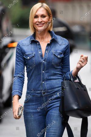 Jenni Falconer seen departing the Global Radio Studios