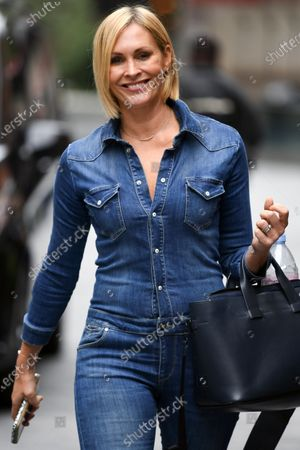 Stock Picture of Jenni Falconer seen departing the Global Radio Studios